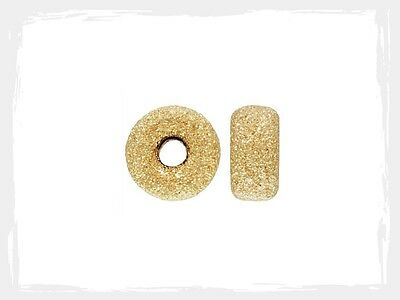 14k Gold Filled 4mm Stardust Roundel Spacer Beads 50pcs #6122-4
