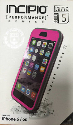 New OEM Incipio Performance Series Level 5 Pink/Gray Case For iPhone 6/6s