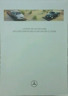 Mercedes S-Class & CL Coupe Poster/Brochure + Paint & Upholstery guide- June 96