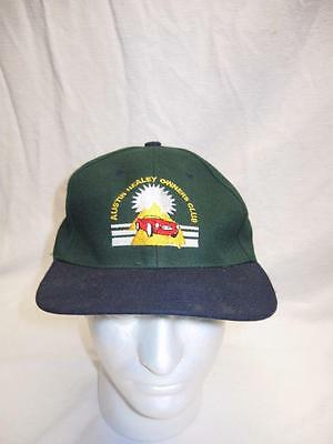 Vintage Austin Healey Owners Club Hat Velcro Back Green navy blue automobile