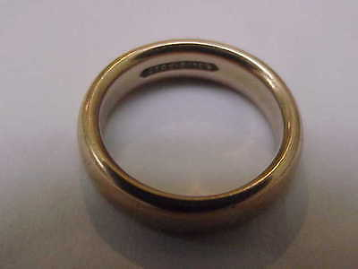 Estate 14K Yellow Gold Wedding Band Comfort Fit Ring 5mm 2.5mm thick ,S 6 1/2