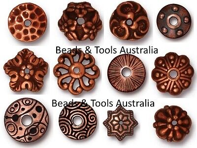 TIERRACAST Bead Caps and Cones Copper Plated Pewter BEADS & TOOLS