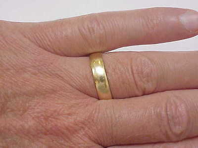 Estate 14K Yellow Gold Wedding Band  Ring 6mm 1.5mm thick ,S 10 1/2