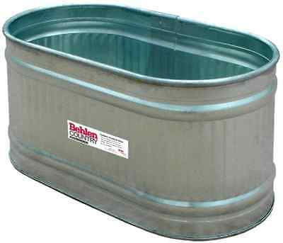 Behlen Country Galvanized Round End Water Tank Feed Trough Horse Cattle Free New