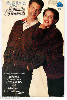 Patons Knitting Patterns Small Booklet - Family Treasures