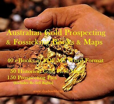 CD - Gold - Australian Prospecting 50 Maps + 40 eBooks & 180 Pics