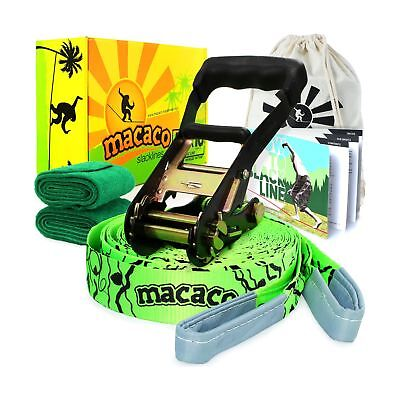 """Macaco Slackline 52'x 2""""(16 Metre) and Booklet"""