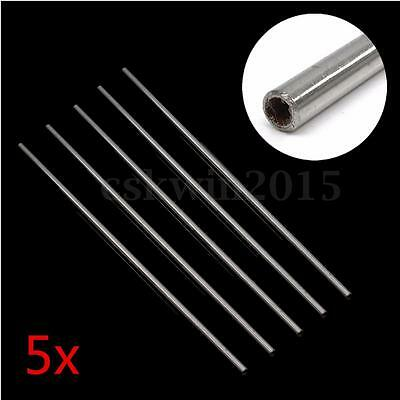 5Pcs Length 500mm 304 Stainless Steel Tube Capillary Rod Bar Metalwork 8mm x 6mm