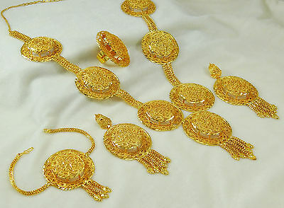 Gold Plated Wedding Women Indian Bollywood Necklace Earrings Set Party Jewelry