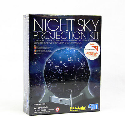 4M KidzLabs Night Sky Projection Kit Bedroom Light Science Experiment Toy Fun