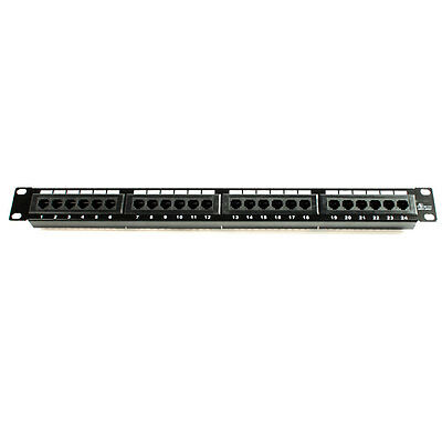 24 Ports Cat6 Patch Panel 110 Type Home Ethernet network device 19'' Rack Mount