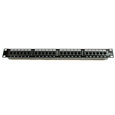 24 Ports Cat5 Patch Panel 110 Type Home Ethernet network device 19'' Rack Mount