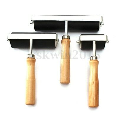 3 Sizes Heavy Duty Hard Rubber Roller Printing Inks Lino Artists Art Craft Tool