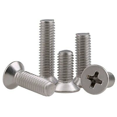 M4*4mm-100mm 304 A2-70 Stainless Flat Head Phillips Machine Screws GB/T819