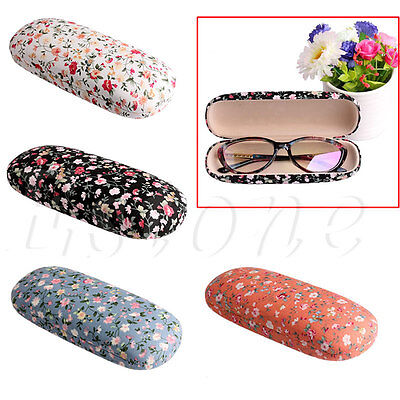 Floral Calico Sunglasses Hard Eye Glasses Case Eyewear Protector Box Protable