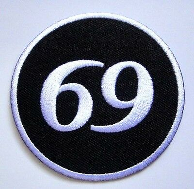 69 Sixty Nine Logo Embroidered Iron on Patch Free Shipping