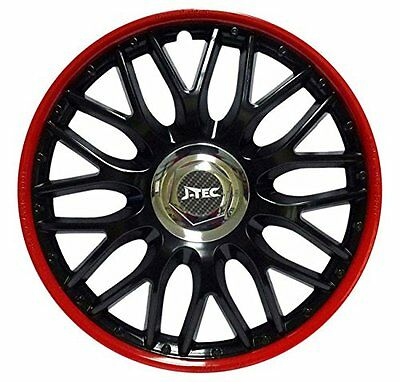 4pc SET WHEEL TRIMS WHEEL COVERS HUBCAPS 16 inch ,,ORDEN RED BLACK''