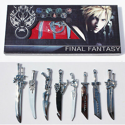 8PC FFVII Final Fantasy VII 7 Cloud Strife Sword Weapon Collection Box Set