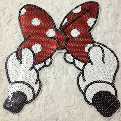 Embroidered Iron On Patches Bowknot Sequins Deal Clothing DIY Applique
