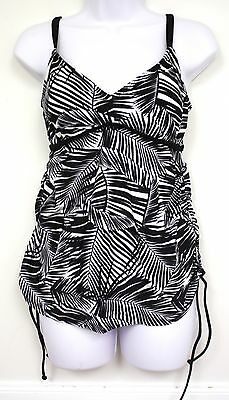 a87e072d85 LIZ LANGE Maternity Target Swimsuit BLACK WHITE Fern Print NWTs small and  large