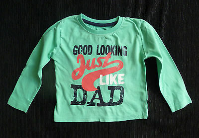 Baby clothes BOY 12-18m sea green long sleeve t-shirt Little Rebel SEE SHOP!