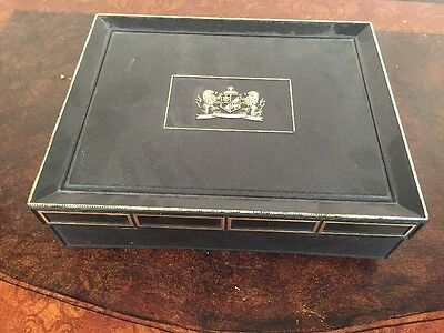 Nice Vintage Mark Iv Magnates Cigar Box Black With Original Label Oldie 20 Cent