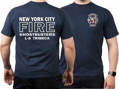T-Shirt navy: Ghostbusters NYC Ladder 8 Tribeca Manhattan