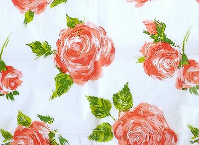 Cottage Rose Red Flowers Floral Watercolour Shabby Tissue Gift Wrap (Pack of 5)