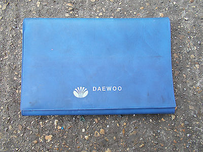 Daewoo Blue Plastic Folding Wallet For Vehicle Documents