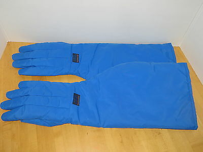 "Cryo-Gloves Tempshield Waterproof Gloves Shoulder Length  25"" Blue Size XL"