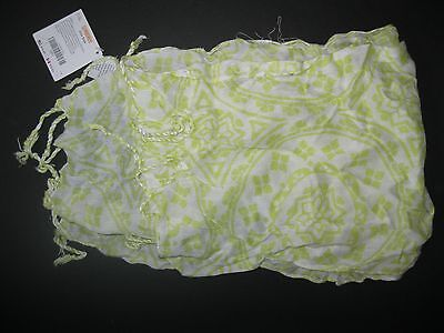 "NWT Gymboree 2011 ""Greek Isle Style"" Girl's White and Green Color Scarf One Size"