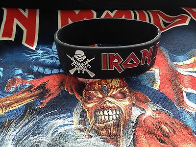 Iron Maiden A Matter Of Life And Death Eddie Black Embossed Silicone Wristband