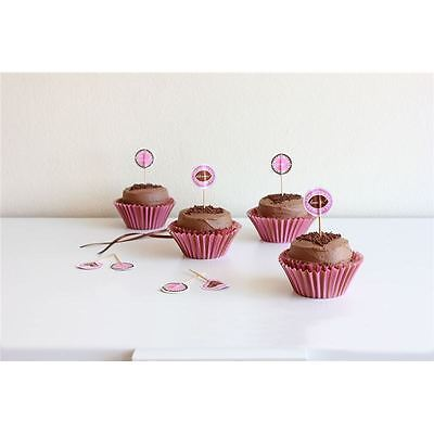 Ciroa - Craft Baking French Chocolate Paper Cupcake Cases and toppers set of 24
