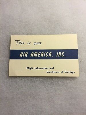 Original Air America CIA Boarding Pass June 1968 Issued By Air America Inc.