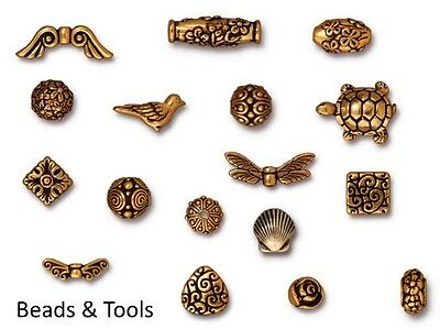 TIERRACAST Beads 22k Gold Plated Pewter Metal Jewellery Beads BEADS & TOOLS