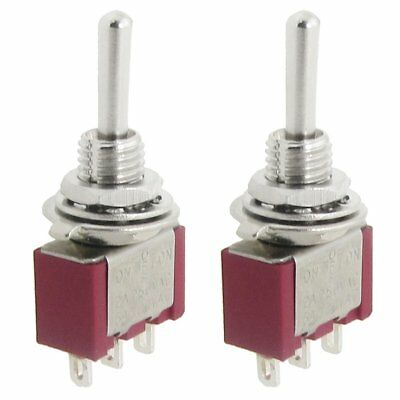 2 Pcs AC SPDT On/Off/On 3 Position Momentary Toggle Switch AC250V/2A/120V/5A WS
