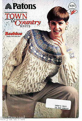 Patons Knitting Patterns Small Booklet - Town and Country Knits