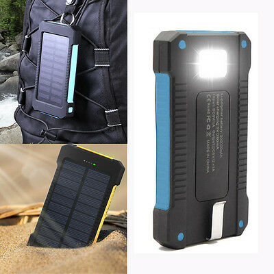 New Solar Power Bank 300000mah Portable External Battery Charger For Smart Phone