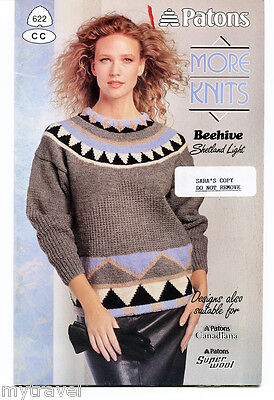 Patons Knitting Patterns Small Booklet - More Knits
