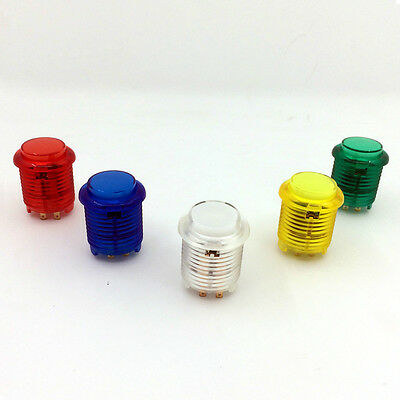 5x 24mm LED Illuminated 5V Push buttons Built-in switch for Arcade joystick kits