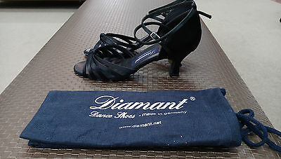 Diamant Black Satin Women's Ballroom Shoes size 7.5
