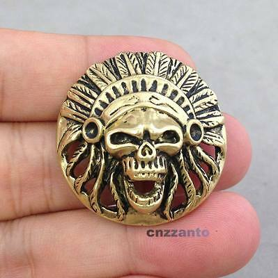 Quality Solid Brass Leather Craft Skull Rivet Stud Punk Screw Back Conchos Decor