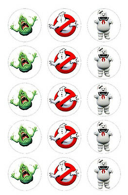12 Ghostbusters Edible ICING Party Cupcake Cup Cake Decoration Images toppers