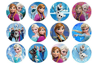 12 Disney Frozen Edible Waferpaper Cupcake Cup Cake Decoration Toppers Images