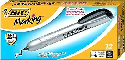 BIC Mark-It Retractable Permanent Marker, Black (PMR11)