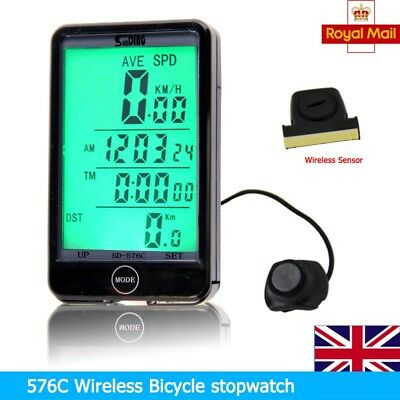 Hot WIRELESS BICYCLE CYCLE COMPUTER BIKE SPEEDOMETER + TOUCH! UK Stock