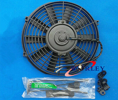 "FOR 14"" 12V Thermo Radiator Cooling Fan GTI/V8/GTR/GTS + Mounting kit"