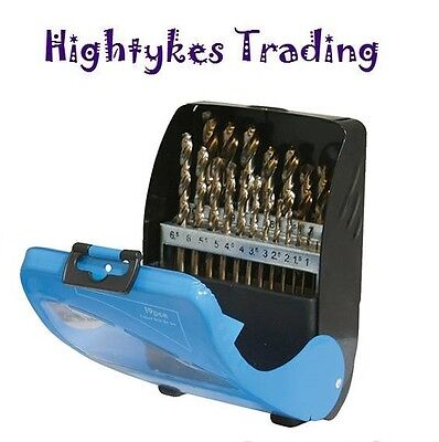 19pc Cobalt Drill Bit Set for Drilling Cast Iron Stainless Steel Ultra Hard 5%