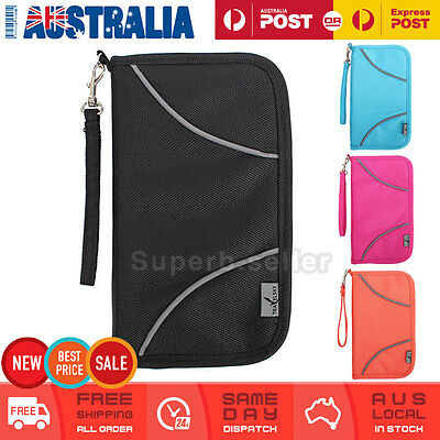 Large RFID Blocking Anti Scan Travel Passport Credit Card Wallet Holder Pouch AU