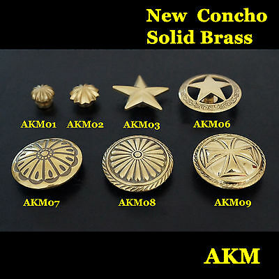 Quality  Solid Brass Western Concho Saddle Tack Craft Concho Leathercraft